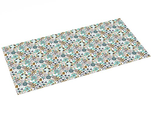 Printodecor - Alfombra Vinílica Impresa, Multicolor (Floral Autumn Hedgerow), 97 x 48 cm