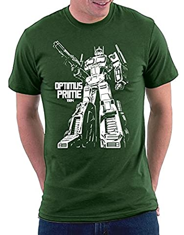 Transformer Optimus Prime T-shirt, Größe XXL, Bottlegreen