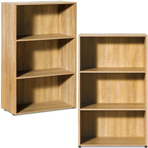 Quercia Libreria Media Libreria BOOKSHELVES con ripiani in legno, piccolo