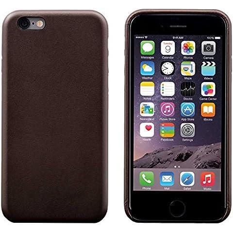 iPhone 6 Plus / 6S Plus Funda, FUTLEX Trasera Funda de auténtico cuero - Café - Ultra fino - Diseño y corte preciso - Hecho a