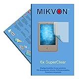6x Mikvon SuperClear Displayschutzfolie für Tolino Page - unsichtbar - Made in Germany