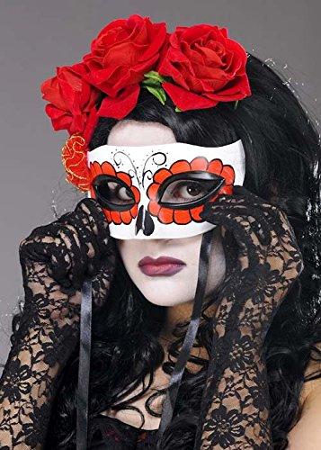 Schädel-Augenmaske (Women's Tag Der Toten Kostüme)