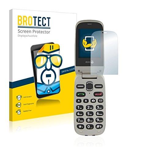 2X BROTECT HD Clear Bildschirmschutz Schutzfolie für Doro PhoneEasy 632 (kristallklar, extrem Kratzfest, schmutzabweisend)
