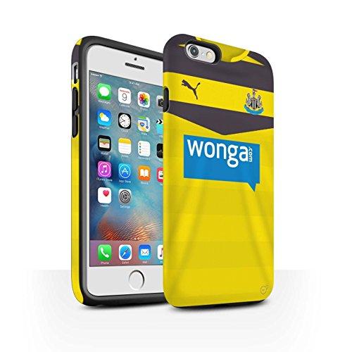Offiziell Newcastle United FC Hülle / Matte Harten Stoßfest Case für Apple iPhone 6S+/Plus / Coloccini Muster / NUFC Trikot Home 15/16 Kollektion Torwart
