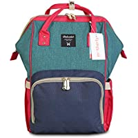 Motherly Stylish Babies Diaper Bags for Mothers - Premium Version (Red and Green Blue)