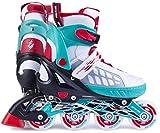 Spokey Freestyle verstellbare Inlineskates Skate Inlineskate Inliner Skates für Kinder Kinderinliner ROADI (Weiß, 37-40)
