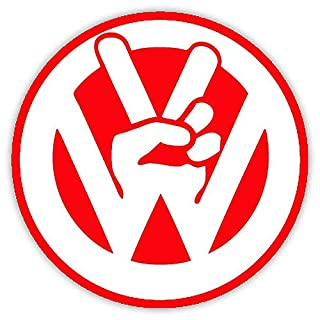 Action Retail VW – Hand self adhesive decal/sticker (Red)
