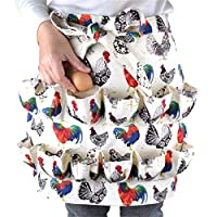 Gyratedream Eggs Collecting Gathering Holding Apron Farmers Wife Apron Egg Aprons Egg Carrier Gift for Chicken Hense Duck Goose Eggs Housewife Farmhouse Kitchen Home Workwear (Size L)