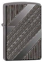 Zippo Unisexe Armour bobines Coupe-Vent Briquet, Haute Poli Noir Glace, Taille Unique