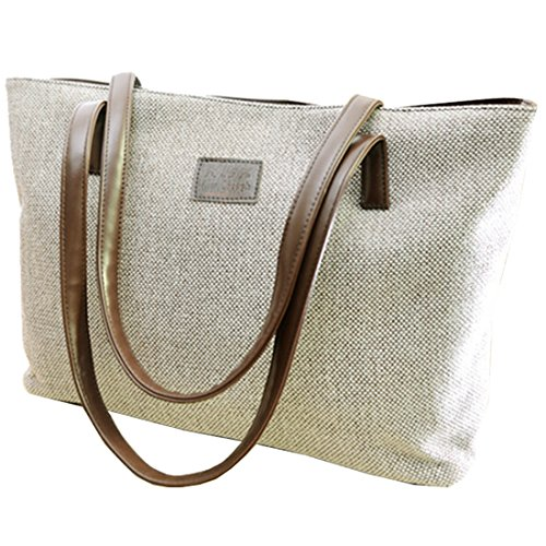 Messenger Bag - TOOGOO(R)donna Collegio Vento canvas di lino Messenger Bag£¨beige£© cachi
