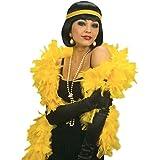 Federboa gelb Deluxe Feder Boa Federboas Federschal Federstola Stola Charleston Accessoires 20er Jahre
