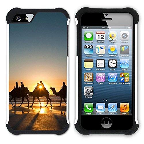 Graphic4You Kamel Tier Wüste Einöde Hart + Weiche Kratzfeste Hülle Case Schale Tasche Schutzhülle für Apple iPhone SE / 5 / 5S Design #11