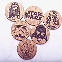 Star Wars Inspired Coasters Set of 6 - Perfect Christmas Gift Stocking Filler