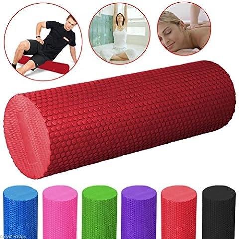 Yoga Foam EVA Roller Exercise Trigger Point GYM Pilates Texture Physio Massage