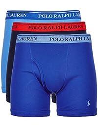 8266f77fc487 Ralph Lauren Polo Classic Fit Boxer Briefs Moisture Wicking, 100% Cotton -  3 Pack
