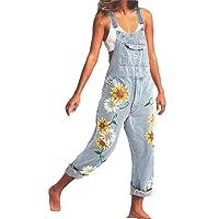 Godoboo Tuta di Jeans Donna Tuta di Jeans Tuta Salopette di Jeans Slim Tuta Salopette Pantaloni