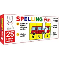 Play Poco Spelling Fun Type 3 - 75 Piece Spelling Puzzle - Learn to Spell 25 Three Letter Words - Beautiful Colorful…