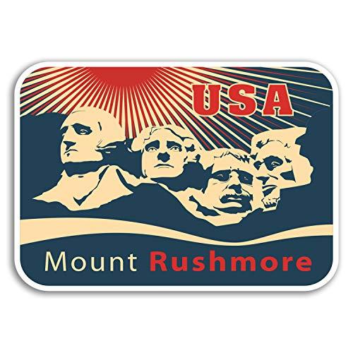 DestinationVinyl 2 x 10cm Mount Rushmore USA Vinyl-Aufkleber - Aufkleber Gepäck-Reise-Geschenk # 19253 (10 cm breit)