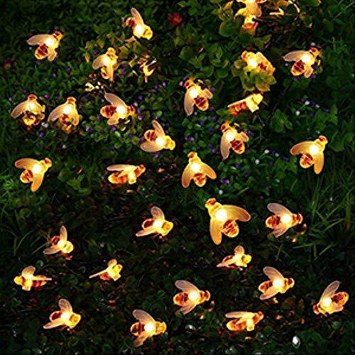 JIA 10leds 20leds 30leds 40leds Honig Led Lichterketten Im Freien Wasserdichte Gartenzaun Pavillon Licht Für Weihnachtsfeier 1 Mt 10leds Warmweiß -