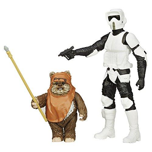 Star Wars Mission Series - Wicket W. Warrick und Biker Scout Figuren [UK Import] (Wicket Star Wars Aus)