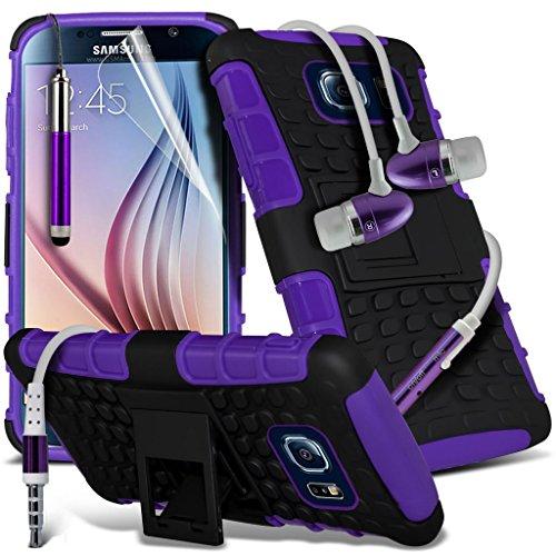 Étui pour HTC Desire 626 / HTC Desire 626 E5603, E5606, E5653 Titulaire de téléphone Case voiture universel Mont Cradle Tableau de bord et pare-brise pour iPhone yi -Tronixs Shock S7 + Earphone (Purple)