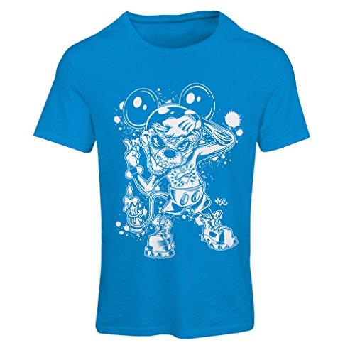 irt Eine Maus mit Einem tollen Halloween-Party-Kostüm (X-Large Blau Mehrfarben) ()