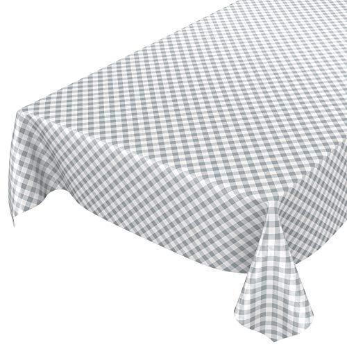 Mantel hule encerado cuadros lavable mesa