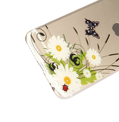 Coque Housse Etui pour iPhone 6, Coque pour iPhone 6s, iPhone 6 Coque Etui en Silicone, iPhone 6s Coque Etui en Silicone, iPhone 6 Silicone Case TPU Cover, Ukayfe Etui de Protection Cas en caoutchouc  Diamant-Wildflowers