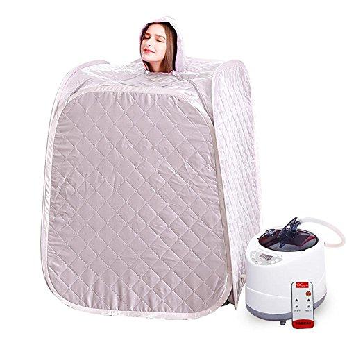 Tragbare Saunen für Zuhause Tragbare Falten Sauna Dampf Box Home Dampf Sauna Box Single Detox Sweat Box (rot) , white