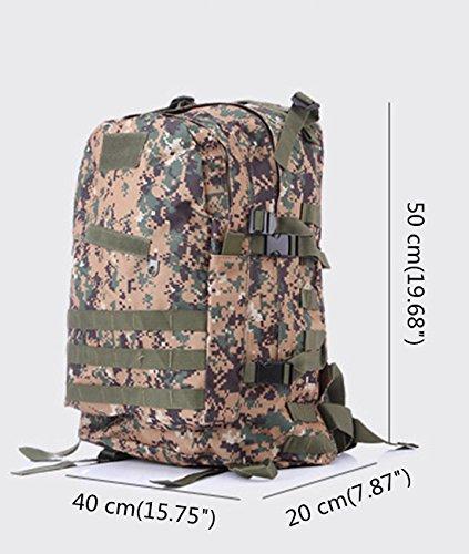 duoguan 35l-40l Outdoor MOLLE 3D Military Tactical Rucksack Camping Wandern Trekking Staubbeutel 10