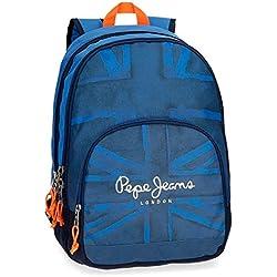 Pepe Jeans Fabio 6092461 Mochila Escolar, 44 cm, 30.98 Litros, Azul