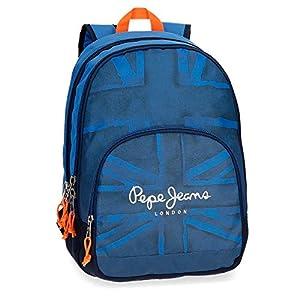 51kR6T3c8BL. SS300  - Pepe Jeans Fabio 60924B1 Mochila Escolar, 44 cm, 30.98 litros, Azul