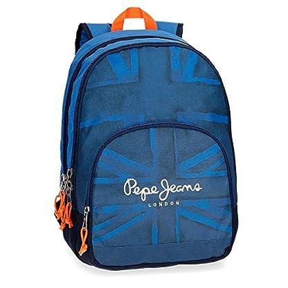 Pepe Jeans Fabio 60924B1 Mochila Escolar, 44 cm, 30.98 litros, Azul