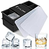 Best Ice Cube Trays With Covers - FYLINA Ice Cube Trays, 2 Pack Silicone Large Review