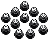 DESERMO 12x Kugelknöpfe für Kochjacken lustige Motive I Kochjackenknöpfe Smiley Totenkopf und Fussball Motiv Knöpfe Made in Germany (Smiley)
