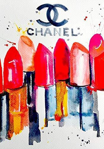 Générique Chanel Lèvres Vintage Mural Art Couture Poster Imprimé 11242 (A3-A4-A5) - A5