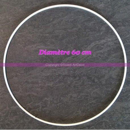 Ring, weiß, Durchmesser:60cm für Lampenschirm, Epoxy-Ring weiß, Traumfänger. ()
