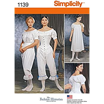 8e9c334ba9962 Simplicity Damen Schnittmuster 1139 Historisches Kostüm Unterwäsche ...