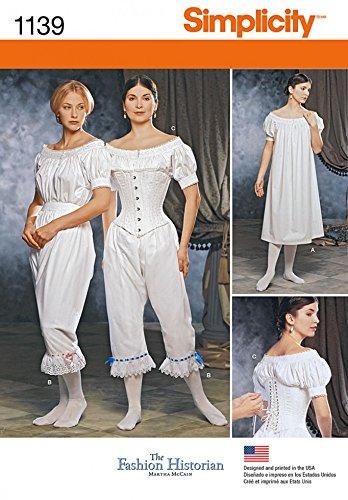 Simplicity Damen Schnittmuster 1139Historisches Kostüm - Kostüme Historische