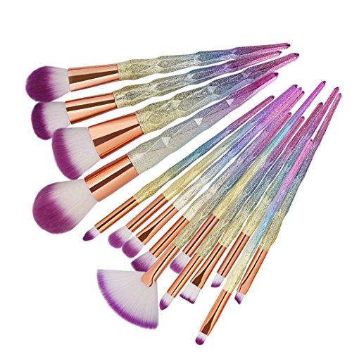 10 Pcs/15 Pcs Make-up Pinsel Set Pro Powder Foundation Augenbraue Eyeliner Lippe Concealer Pinsel Kosmetik Pincel Maquiagem 15 Stk 3D