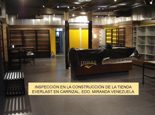 Inspección en la construcción de la tienda Everlast en Carrizal, Edo. Miranda, Venezuela