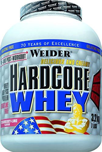 Weider, Hardcore Whey, Erdbeer-Limette, 1er Pack (1x 3.2 kg)