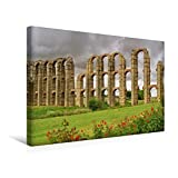 Calvendo Premium Textil-Leinwand 45 cm x 30 cm Quer, Aquädukt von Mérida | Wandbild, Bild auf Keilrahmen, Fertigbild auf Echter Leinwand, Leinwanddruck: Extremadura Orte Orte - LianeM