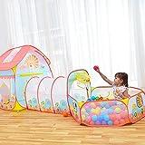 Zelt/ DELLT- Pop-up Kinder Spiel, Little Lion Cartoon Muster Blau und Rosa Modellierung Ocean Ball House Breathable Indoor-und Outdoor-Spielzeug Kleine (enthält nicht Ocean Ball)