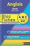 BLOC FICHES ABC ANGL TER TTES