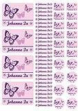 Mein Zwergenland Namensaufkleber Heftaufkleber Etiketten Sticker Stickerbogen Schmetterlinge