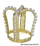 Karneval Klamotten Kostüm Krönchen Prinzessin gold mit Perlen Zubehör Märchen Karneval