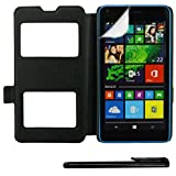 4in1 Smart Cover in Schwarz für - Microsoft Lumia 640 /