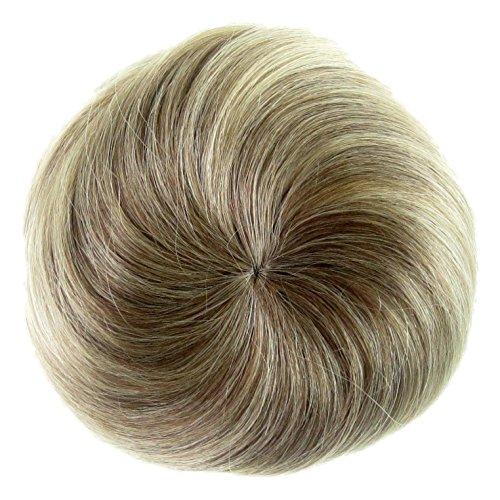 Alle Farben sind erhältlich, Super Bun - 30{4630ad991d401510e9b9b591142b741d9c9778fdf341f17655df154a0d6247bf} Größer Gestylte stewardess Haarknotenfrisur - 60er Look - Aschblond-hellbraun Mix
