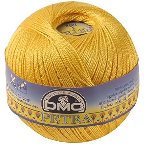 DMC-Filato di Petra, in puro cotone, colore: giallo, taglia: 3